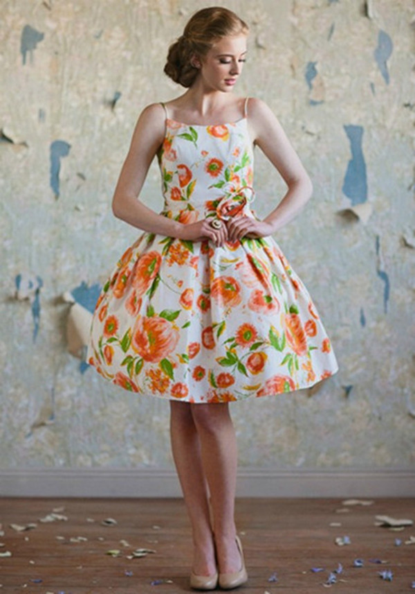 Vintage To Be A Stylish Bridesmaid Extraordinary Floral Pattern Bridesmaid Dresses