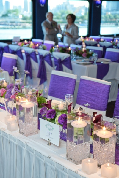 Purple Wedding Banquet Tables And Chairs