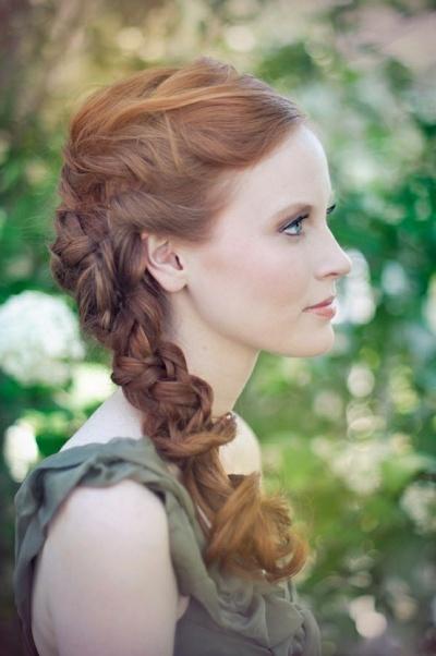 braided bridesmaid hairstyle