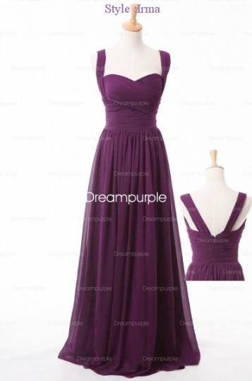 Chiffon Long Bridesmaid Dress Style-Irma