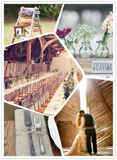 rustic barn wedding in UK